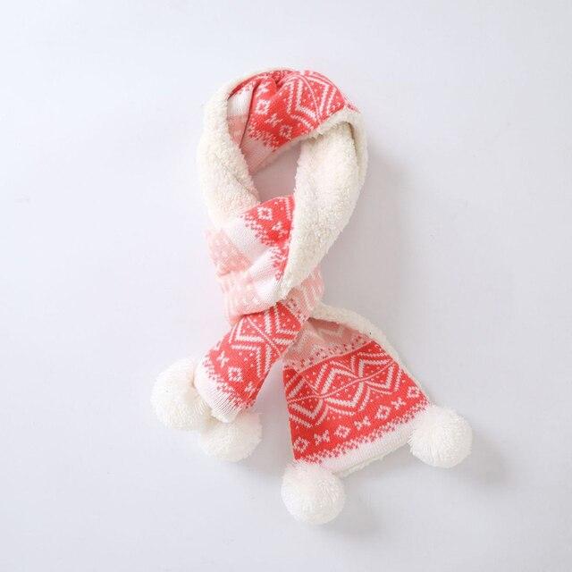 Winter Kinderen Gebreide Muts/Sjaal Mode Geometrie Patroon Verdikking Hoed Ear Flap Cap Warm Kinderen Kerstmis Nieuwjaar Sneeuw caps