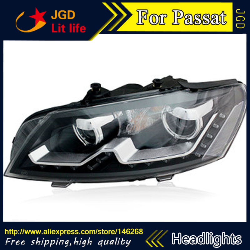 Free shipping ! Car styling LED HID Rio LED headlights Head Lamp case for VW Passat 2011-2013 Bi-Xenon Lens low beam mr p 蜘蛛侠1 3 6年级小学生书包 减负护脊儿童双肩背包