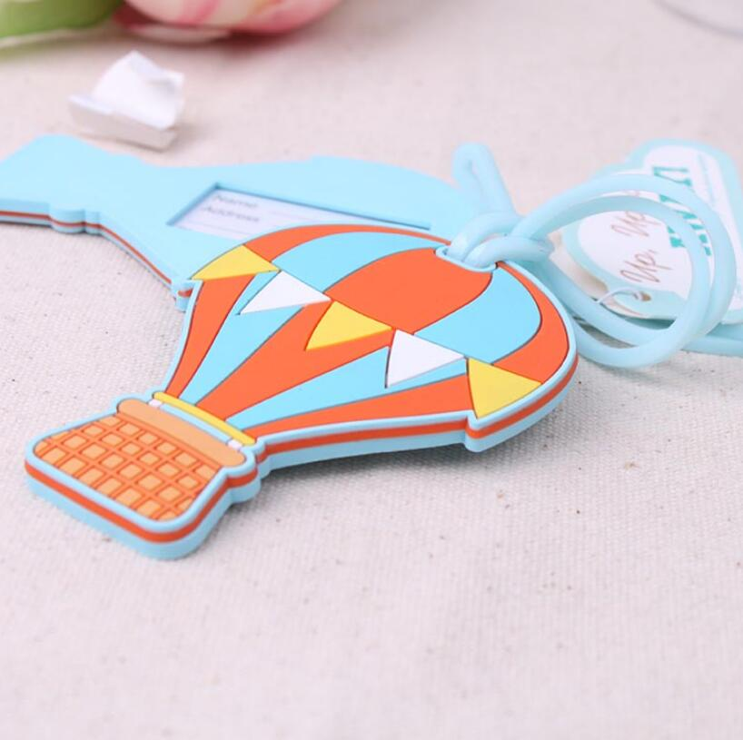 Up, Up & Away Up and Away Hot Air Balloon Luggage Tag Wedding Favors Giveaway Gifts Baggage Tags LX2015