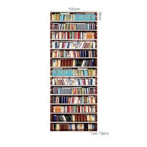 Image 5 - 13 unids/set libros creativos estante pegatina para escaleras calcomanías de escaleras pegatina para paredes del hogar vinilo arte decoración del hogar para habitaciones de niños pegatinas