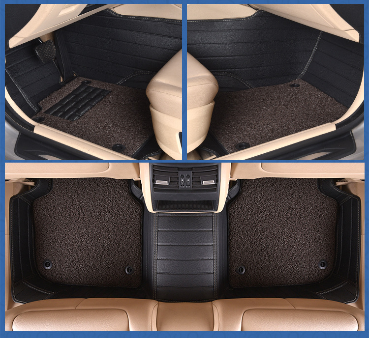 Myfmat custom foot leather car floor mats for KIA Cerato Forte Soul RIO KX3 KX5 KX7 KX CROSS Borrego two layer durable anti slip in Floor Mats from Automobiles Motorcycles