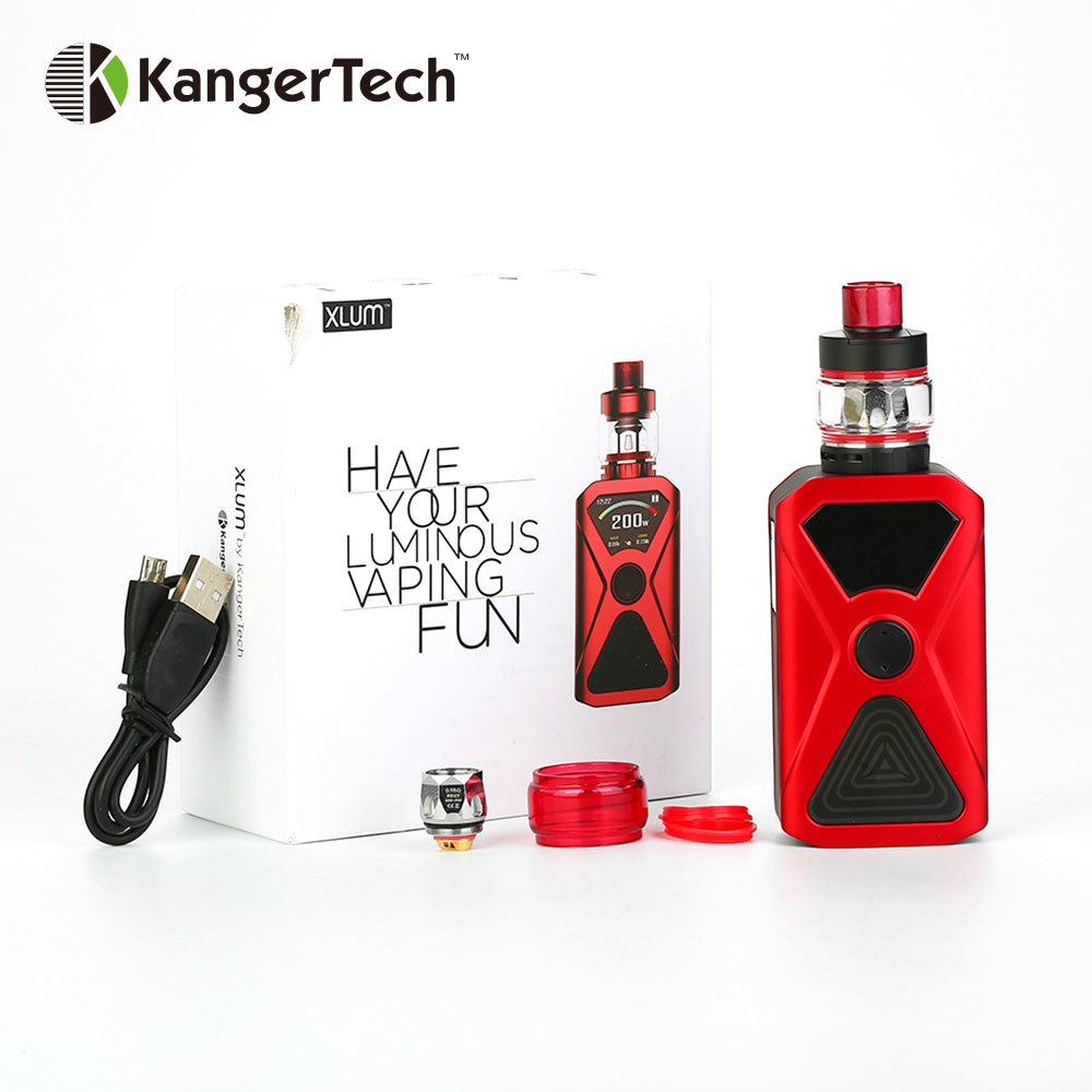 original Kangertech XLUM 200W TC Kit with XLUM MOD 4 5ml XLUM Tank Push to open