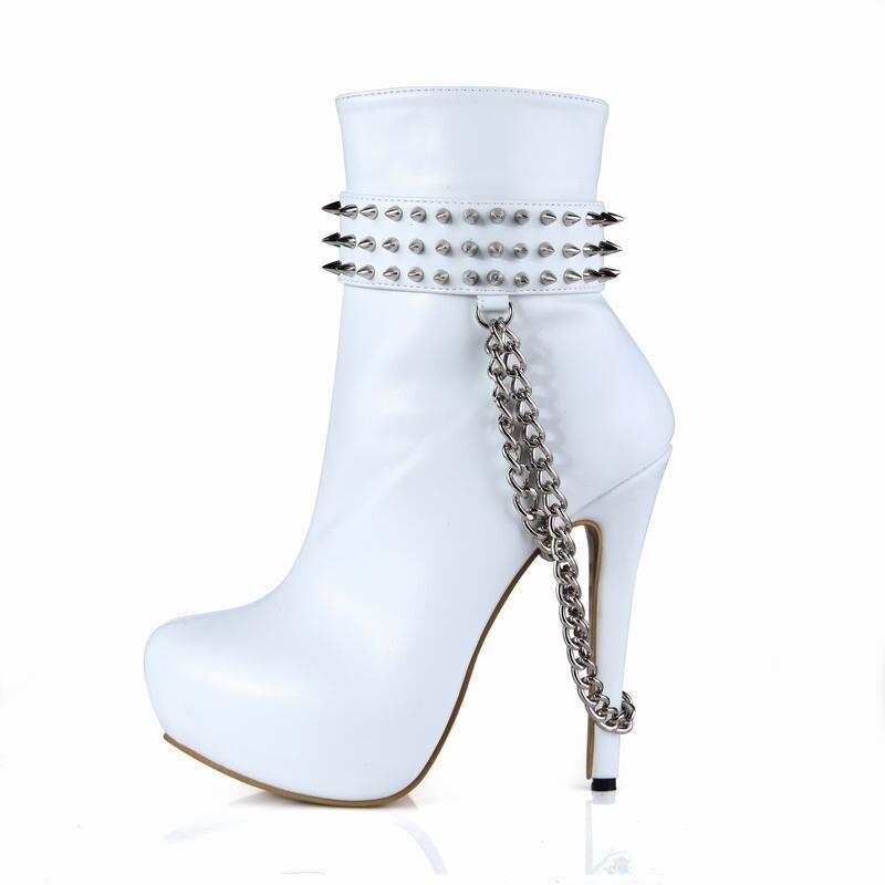 Beige Femmes black Partie Botas C white Chaussures Femme Plate Cheville Zapatillas Bottes Hauts D'hiver forme A Talons Cyabmoz Mujer serpentine Serpentine black black B coffee Zapatos Rivet BrEdxoeWQC