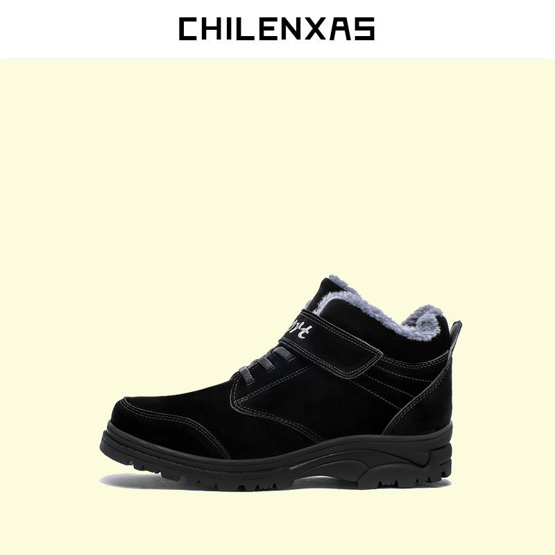 CHILENXAS 2017 Winter Snow Pig Suede Shoes Men Casual Lace-up Height Increasing Light Waterproof Solid Comfortable Breathable chilenxas new fashion spring autumn leather men casual shoes breathable lightweight comfortable lace up solid waterproof 2017