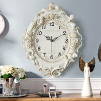 TUDA Free Shipping 12Inch European Creative Decorative Wall Clock Sitting Room Bedroom Mute Wall Clock Exquisited Hanging Clock