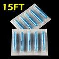 OPHIR 50pcs Flat Tip Tattoo Disposable Nozzle Tip 15FT blue# TA031(15F)-50x