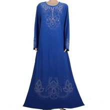 Muslim abaya kaftan dress Islamic clothing for women embroidery dubai abaya kaftan muslim hijab abaya dress