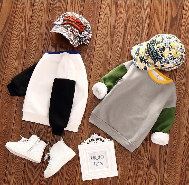 Wholesale-Boys-Patchwork-Sweatshirt-Cotton-Full-Sleeve-Tops-For-Girls-Spring-Autumn-Solid-Colors-F943