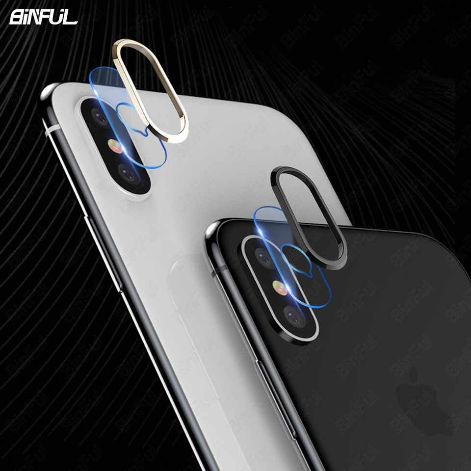 For Apple iPhone Xs Max X XR Camera Lens Protector Soft Tempered Glass Back Lens Film Protection Ring Mobile Phone Accessories