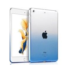 Case para apple ipad mini ultra delgado translúcido de tpu suave de nuevo case protector de la piel para ipad air 1/air 2/ipad 234/pro 9.7 cubierta