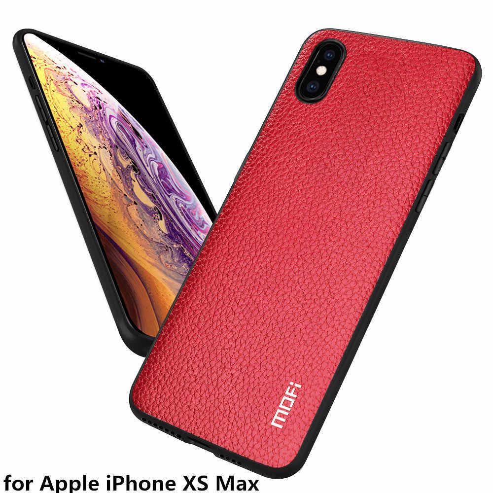 Mofi capa traseira para apple iphone xs max caso para iphonexs max habitação para apple xs max alta qualidade couro do plutônio fundas coque capa