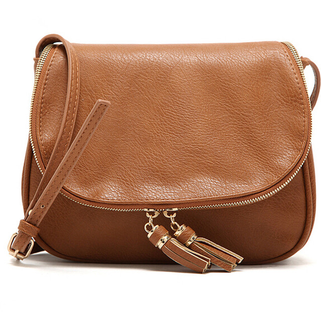 Tassel Women Messenger Bags Designer Leather Handbags High Quality Cross Body Shoulder Fashion Bag