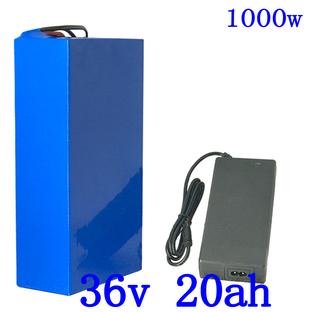 Hot sale 36V Lithium battery 36V 20AH Electric Bike battery 36 V 20ah 1000W Scooter Battery with 30A BMS and 42V 5A charger