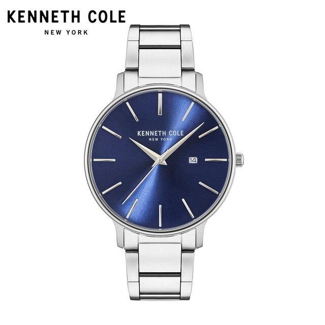 a5c99be136f Kenneth Cole Mens Relógios de Quartzo relógio de Prata Pulseira de Aço  Inoxidável Preto KC15059001 Data