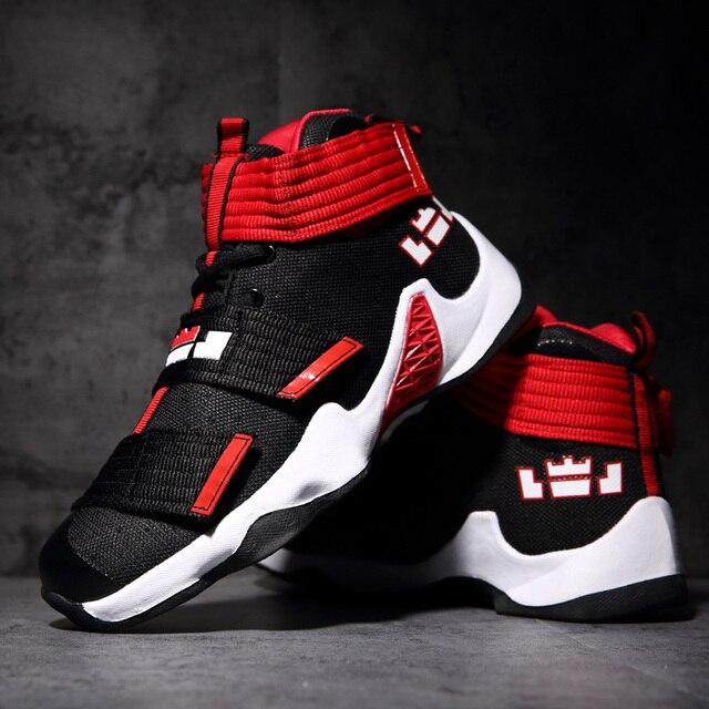 63731a81bbe30 2018 nueva oferta zapatos de baloncesto para hombre cómodos para mujer al  aire libre Lebron antideslizante