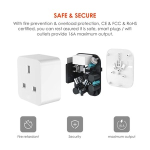 Image 5 - مقبس ذكي WiFi ، منفذ المملكة المتحدة ، تحكم لاسلكي ، طاقة 16 أمبير ، مراقبة الطاقة ، مؤقت ، مفتاح ، تحكم صوتي ، يعمل مع Alexa و Google