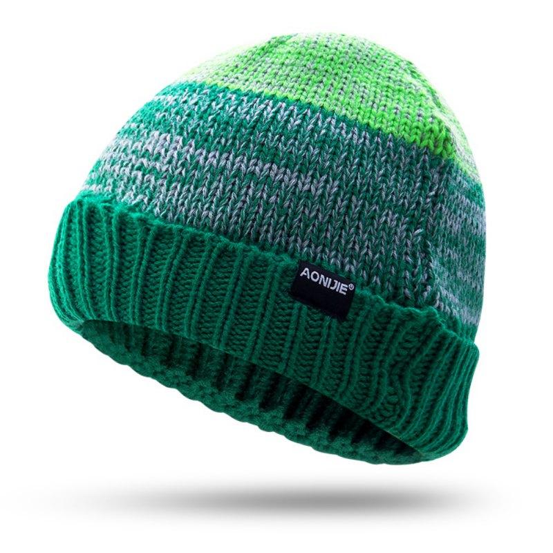 Women Mens Winter Running Caps Knitting Hat Cold Winter Knitting Skull Wool Cap Warm Slouchy Beanie Sport Caps Headgear