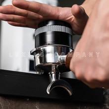 Prensa plana watchget y rebote de café en polvo de acero inoxidable de 58mm, herramienta de distribución de café