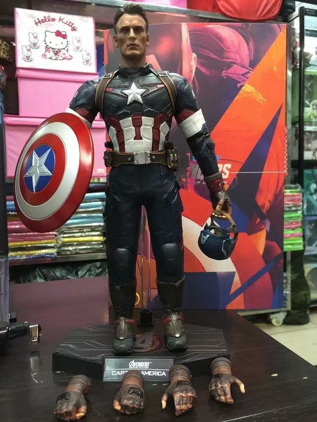 The Avengers 2 Captain America 1/6 Scale movable PVC Action Figure Collectible Model Toy Doll 32cm hot 1 6 scale 30cm the avengers captain america civil war iron man mark xlv mk 45 resin starue action figure collectible model toy