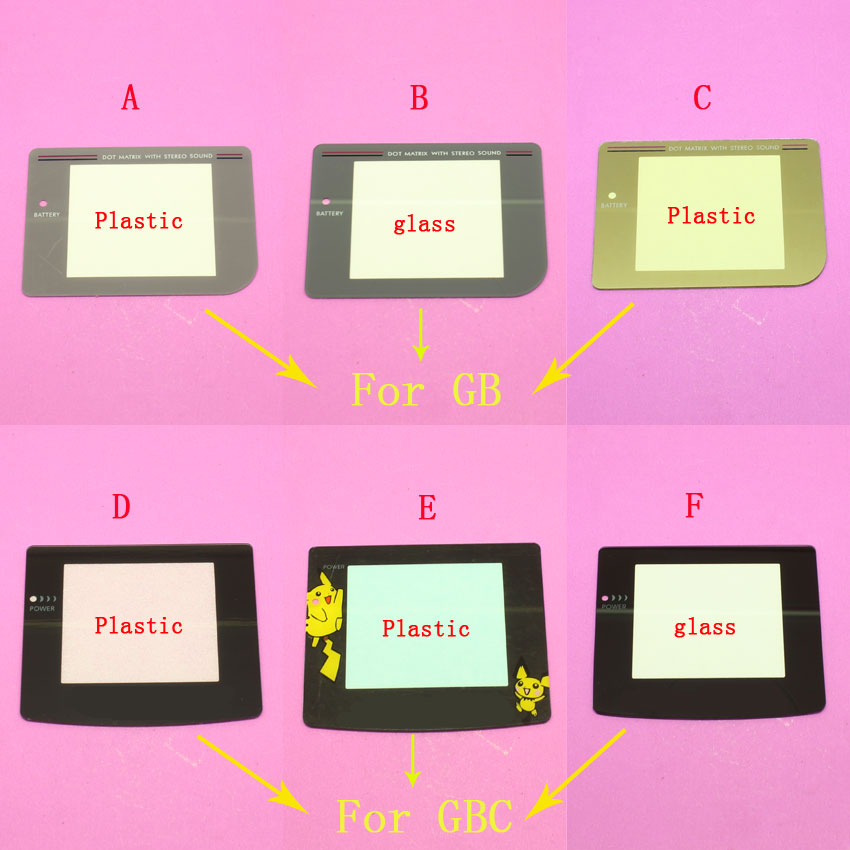 Replacement plastic/ glass Screen Protector Lens Screen Lens for Gameboy Game Boy GB/ Game Boy Color GBC