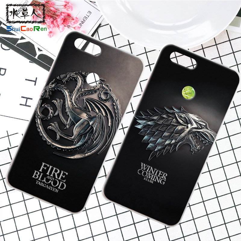 ShuiCaoRen Silicone Phone Case For Huawei Honor 7X Retra Game of Thrones Cover Phone Coque For Huawei Honor 7X Play Cases