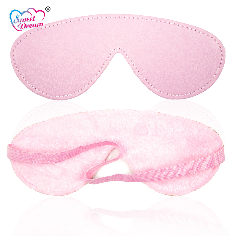 Sweet Dream PU Leather Plush Blindfold Elastic Eye Mask Adult Game Role Play Party Mask Sex Toys for Women Sex Products DW-382