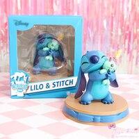 Figuras de película de Mickey Lilo & Stitch Scrump happy Moment PVC estatua figura de acción coleccionable anime modelo juguete muñeca regalo