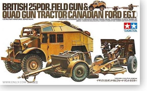 1/35 britannique 25 sondeurs et tracteur 35044