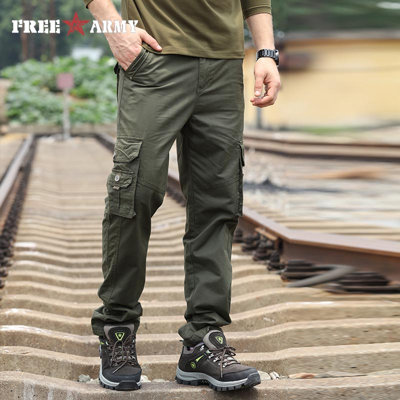 Brand Military Army Green Men's Pants 2018 New Cotton Male Trousers Casual Pockets Thick Sweatpants Cargo Pants Men Big Size 42 sea cloud free shipping big size 28 44 plus length 125cm men pants cotton male jeans military man black long trousers for 200cm