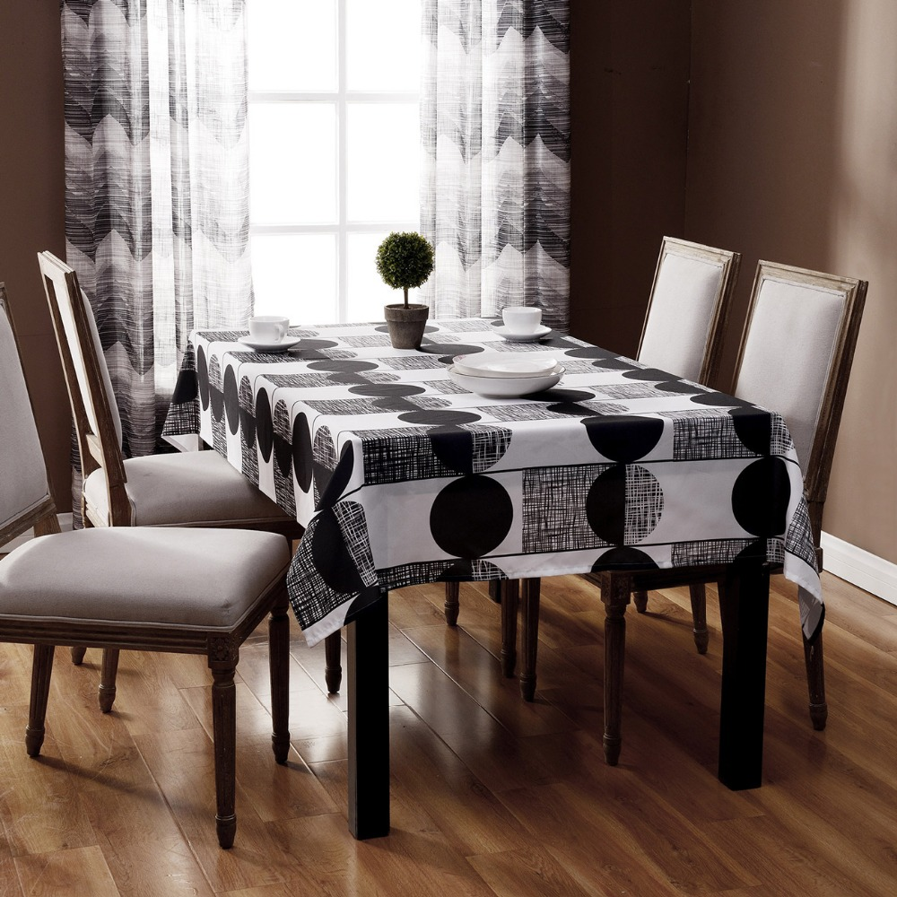 Printed Endless Rectangular Table Cloth Black And White Striped Tablecloth  Table Cloths For Weddings Table Cover