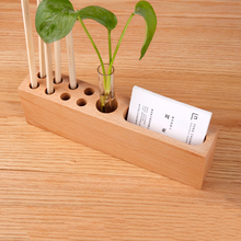 Office Supplies Multi-function Storage Pen Holder Wooden Business Card Box Desktop Solid Wood Simple Creative