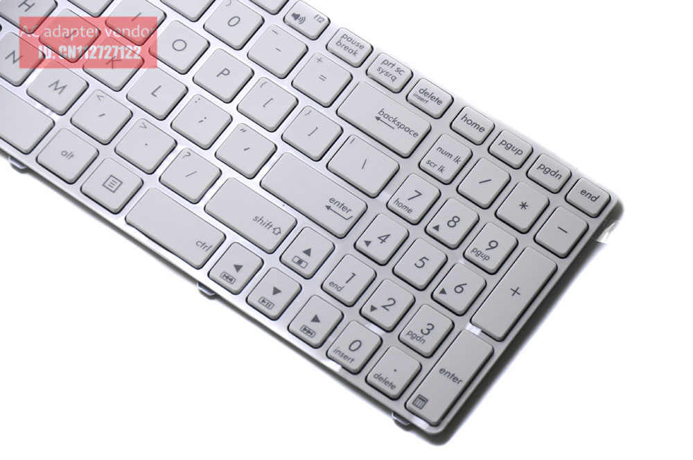 Новая замена для Asus K53 K53E K53E-1A K53SC K53SC-1B США Английский Клавиатура белый
