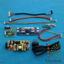 """Universal Driver Board +power supply board+double 8bit LVDS cable+LED Inverter for 14""""-22"""" LCD Laptop Monitor DIY"""