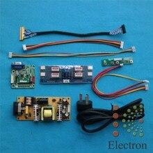 Bord de Pilote universel + carte d'alimentation + double 8bit LVDS câble + LED Onduleur pour 14 »-22» LCD Moniteur D'ordinateur Portable DIY