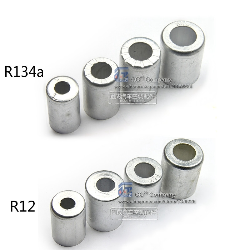 Aluminum Crimp Ferrule for Auto A/C <font><b>Air</b></font> <font><b>Conditioning</b></font> Standard / Reduced Barrier Refrigerant <font><b>Hose</b></font> 3/<font><b>8</b></font>'' 1/2'' 5/<font><b>8</b></font>'' 3/4''
