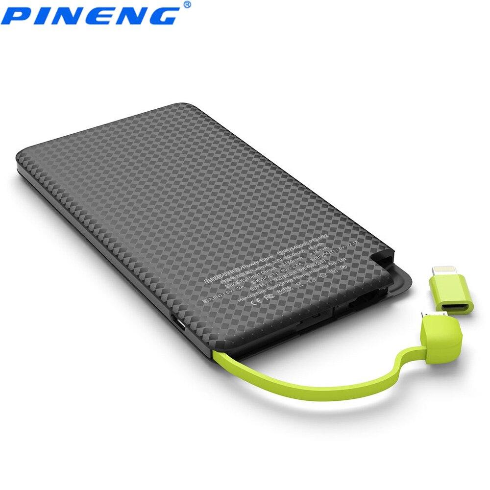 bilder für Pineng pn-952 5000 mah energienbank eingebaute ladekabel externe akku vibrierende schalter usb versorgung