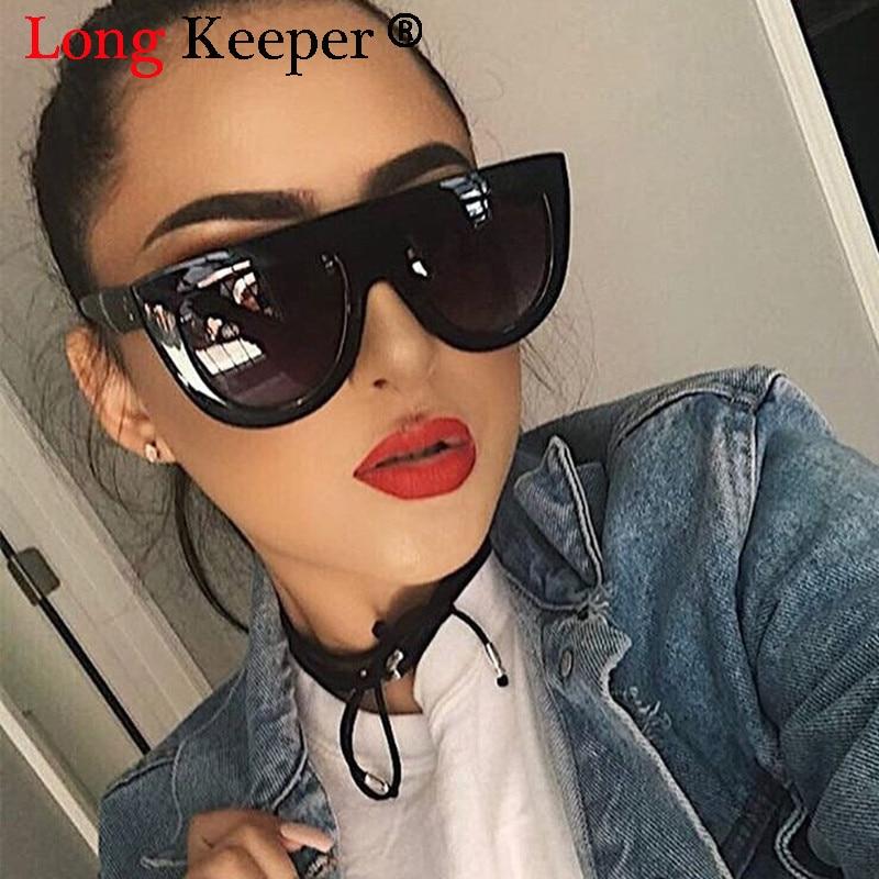 Longo Goleiro Moda Olho de Gato Óculos De Sol Das Mulheres Designer de  Marca óculos de Sol de Luxo Estilo Lady Verão Óculos Tons Rebite Feminino 10949a41d1