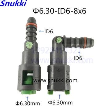 6.30mm ID6 SAE łączniki rur paliwowych auto plastikowe przewód paliwowy szybkie złącze żeńskie złącze benzyny dla Honda CRV CIVIC FIT 2 sztuk