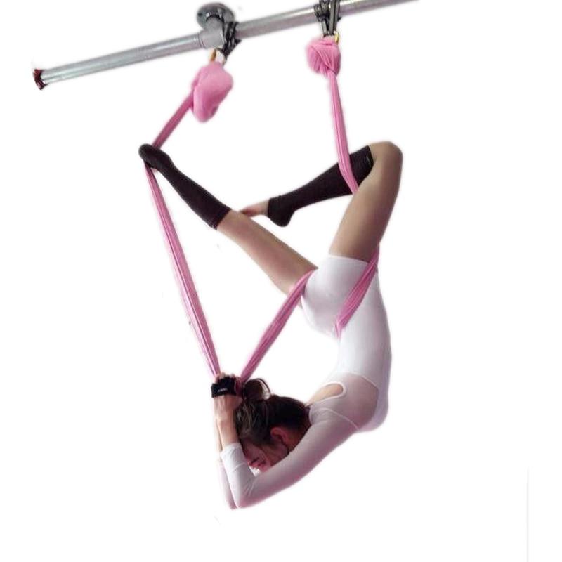 5meter hammock+1 pair carabiner+1 pair daisy chain Aerial flying Aerial Yoga hammock Equipment AntiGravity Fitnesst freeshiping 5 2 8 meter full set aerial anti gravity yoga hammock swing yoga 1 pair carabiner 1 pair extender rope 1pair ring mount