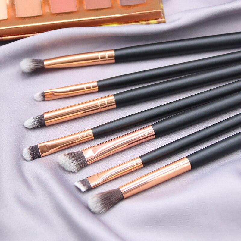 BBL 7 Essential Makeup Eye Brush Set - Eyeshadow Eyelash Eyeliner Tapered Blending Crease Kit Make Up Brushes Pincel Maquiagem