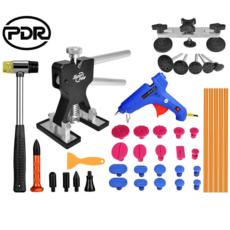 цены  PDR Tools Paintless Dent Repair Dent Removal Dent Puller Mini Lifter Bridge Puller Aluminum Tap Down Hail Repair Set