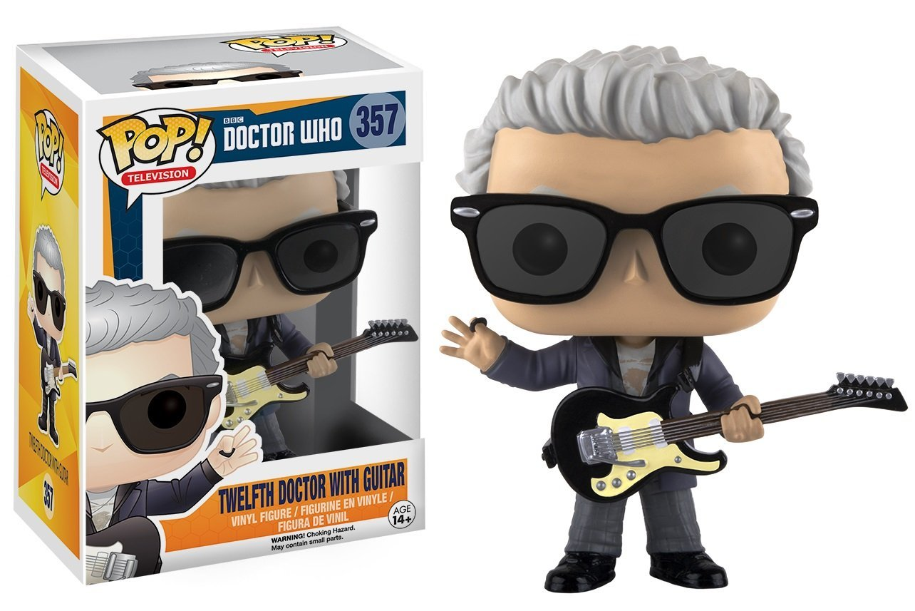 Funko pop Official Marvel Doctor Who - 12th Doctor with Guitar Vinyl Figure Collectible Model Toy with Original Box  official funko pop marvel x men logan wolverine vinyl action figure collectible model toy with original box