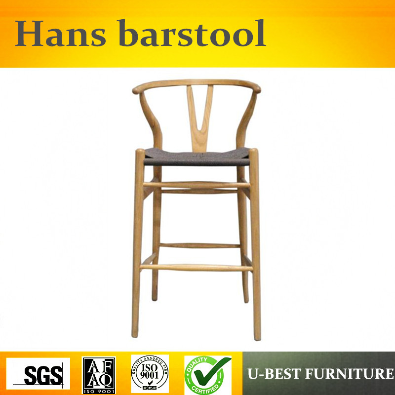 U-BEST Wegner High Quality Wooden Bar stool kitchen counter stools counter height stools catina counter stool charcoal