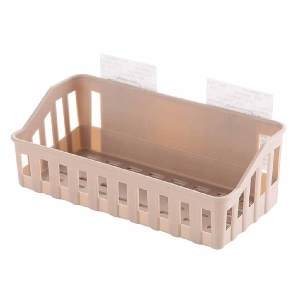 Kitchen Bathroom Storage Shelf Hanging Rack Corner Basket Holder Organizer Wall-mounted Storage Basket Household Organization