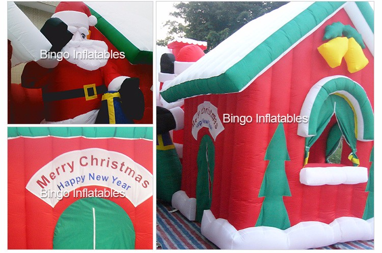 Pretty outdoor inflatable christmas house, inflatable christmas cabin (3)