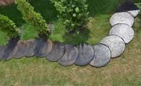 2 Pieces/Lot  Mold Log Stepping Stone Abs Plastic Concrete Garden Path Maker Garden Cement Bricks Stone Molds DIY Road Decor