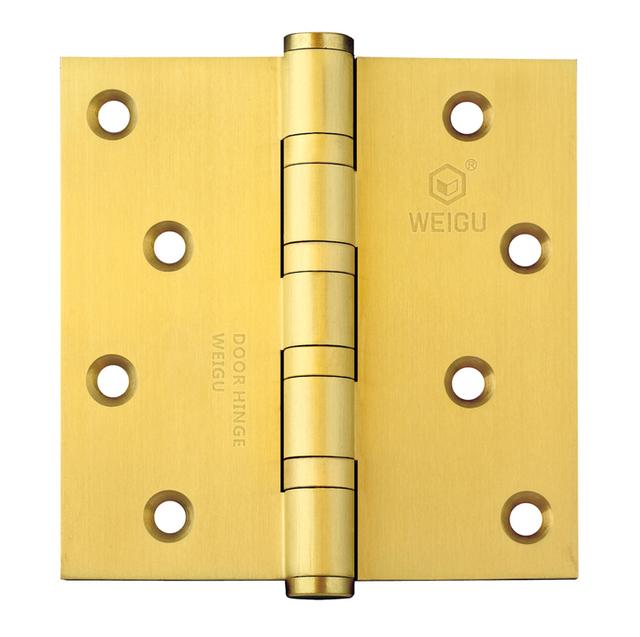 Bronce satinado terminado bisagra de la puerta de latón Material de 1 par ( 4 pulgadas * 4 pulgadas * 3.0 mm )