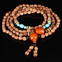The natural fine seed of Bodhi beads 108 cicada hand String Bracelet old toad sub Jin chanzi seed color beads