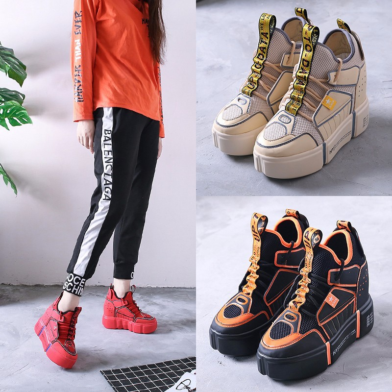 Casual White Shoes Women Fashion Brand Sneakers Lady Platform chaussure Autumn New Female footware Cross-tied Increased Shoes rizabina concise women sneakers lady white shoes female butterfly cross strap flats shoes embroidery women footwear size 36 40