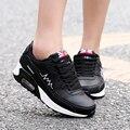 2016 de la moda de zapatos deportivos de marca zapatos casuales zapatos de plataforma de las mujeres zapatos de mujer transpirable entrenadores calzado de las señoras superstar zapatos de aire